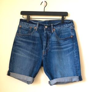 LEVI'S 501 CT Denim Shorts with Button Fly 31